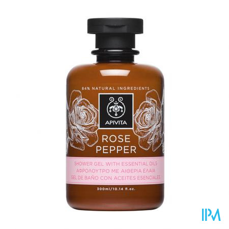 Apivita Douchegel Rose&pepper 300ml