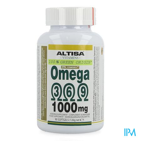 Altisa Omega 3 6 9 Plantaardig 1000mg Softgels 90