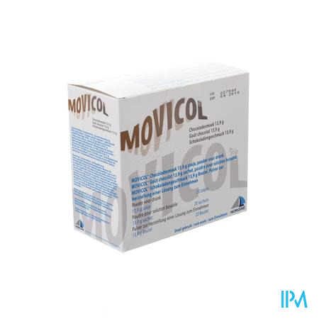 Movicol Impexeco Chocolade Pdr Zakje 20x13,9g Pip