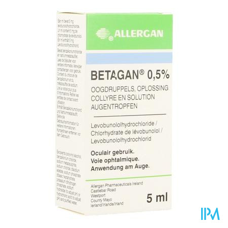 Betagan Collyre 1 X 5ml 0,50%
