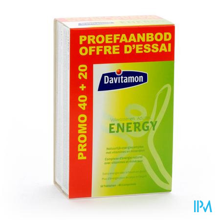 Davitamon Energy Volwassenen 40 + 20 tabletten