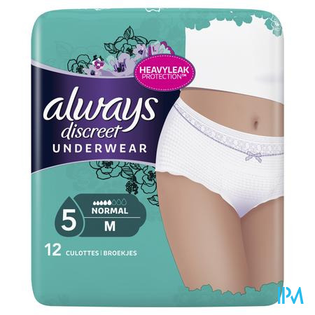 Always Discreet Incontinence Pants M Lage Taille12