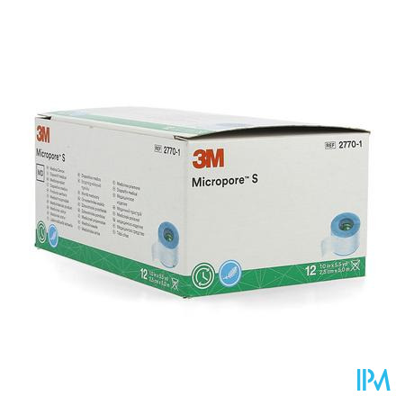 3m Micropore S Hechtpleister 2,5x500cm