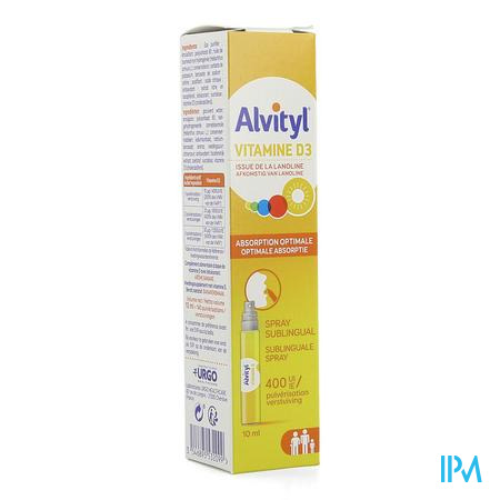 Alvityl Vitamine D3 Spray 10ml