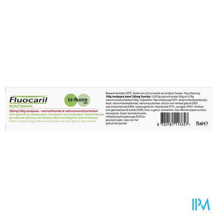Fluocaril Bi-fluor 250 Tandp. Munt 250mg/100g 75ml