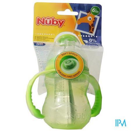 Nûby Trainingsfles met antilektuit - 240ml - 6m+