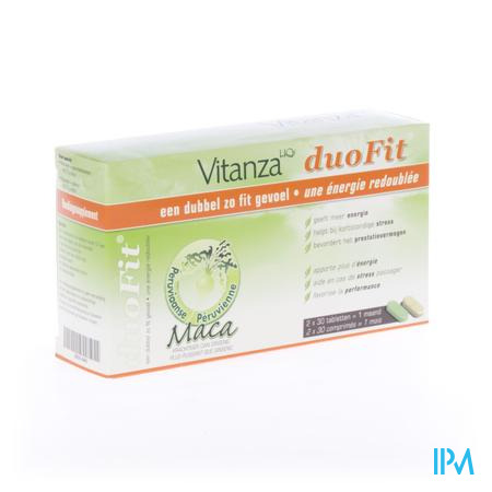 Afbeelding Vitanza HQ duo fit 2x30 tabletten.