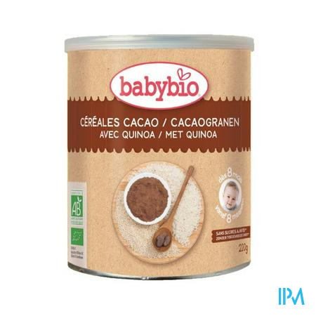 Babybio Cacaogranen Quinoa 8m 220g