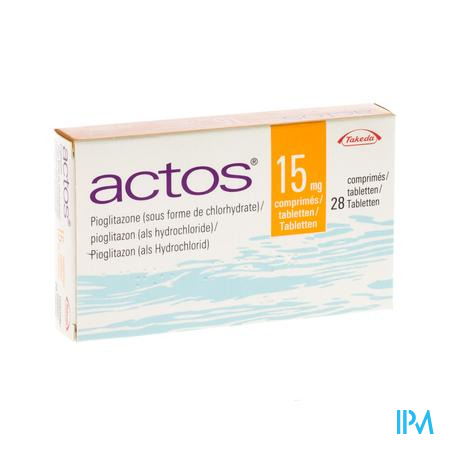 Actos 15mg Comp 28 X 15mg