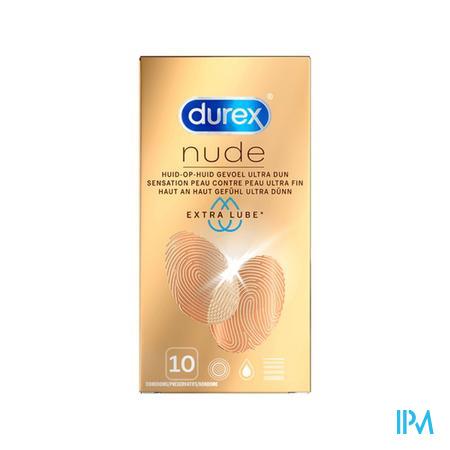 Durex Nude Extra Lube Preservatifs 10