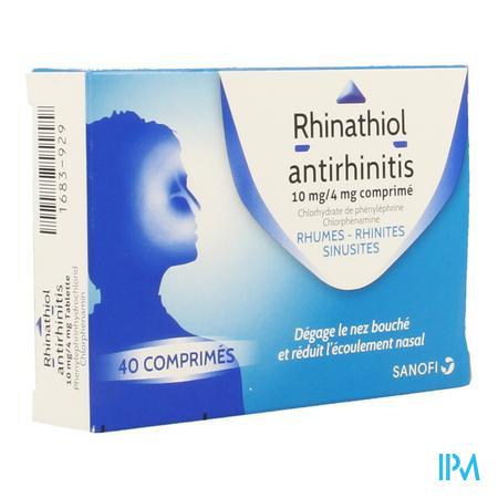 Rhinathiol Antirhinitis Comprimés 40
