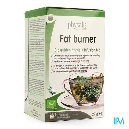 Physalis Fat Burner Infusie Bio Zakje 20x1,5g