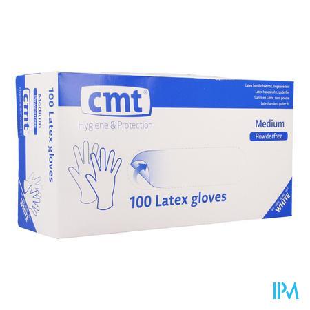Cmt Gants Latex Blanc Pf M 100