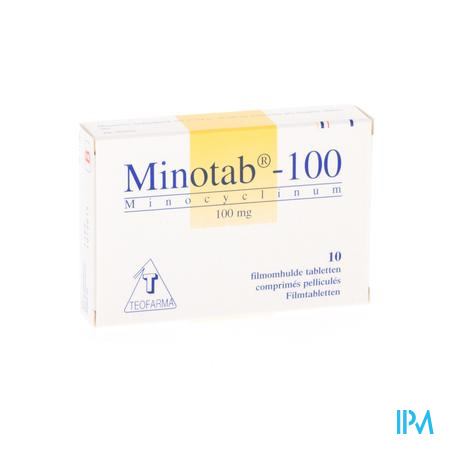 MINOTAB 100 COMP 10 X 100 MG