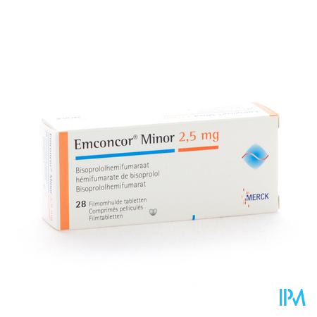 Emconcor Minor 2,5mg Tabl 28x2,5mg