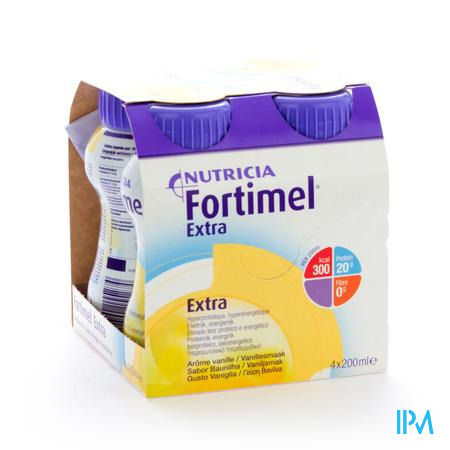 Farmawebshop - FORTIMEL EXTRA VANILLE 4X200ML