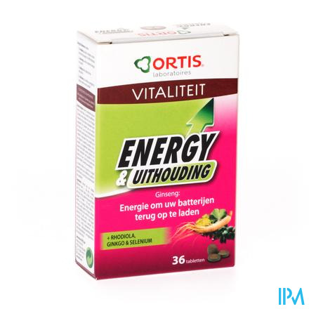 Ortis Energy & Uithouding 36 tabletten