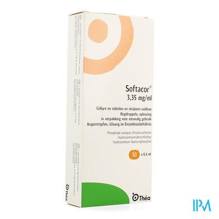 Softacor 3,35mg/ml Oogdruppels Unidose 30 X 0,4ml