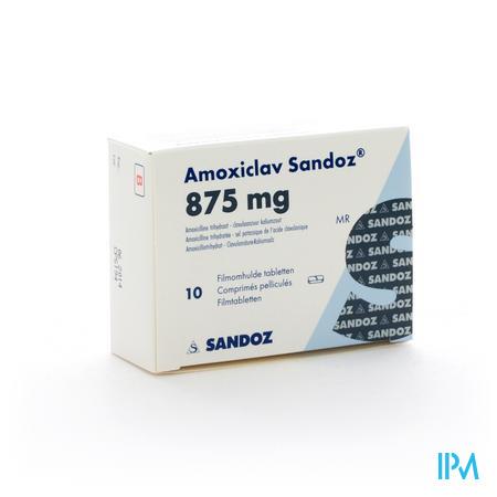 Amoxiclav Sandoz 875mg Comp 10 X 875mg