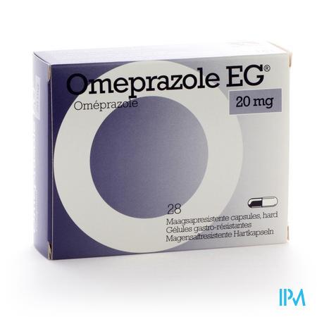 Omeprazole Eg 20mg Caps Gastro Resist Blis 28x20mg