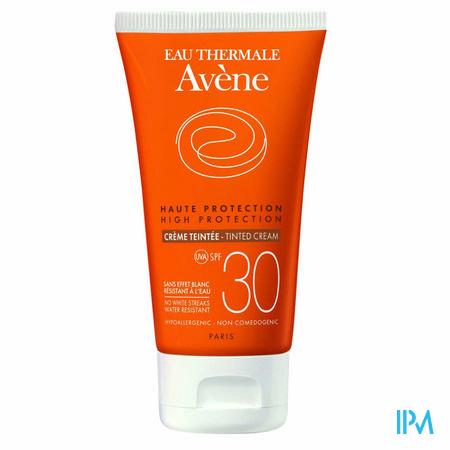 Afbeelding Avène Waterbestendige Getinte Zonnecrème met SPF 30 voor Gelaat Tube 50 ml.