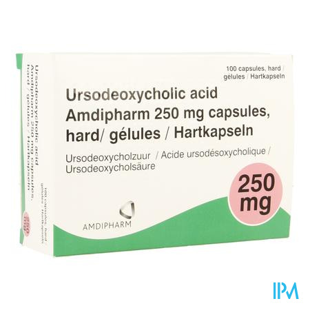 Ursodeoxycholic Acid 250mg Caps Hard 100