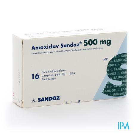 Amoxiclav Sandoz 500/125mg Comp 16