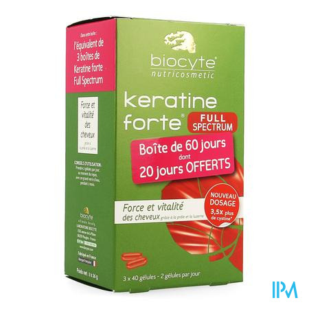Biocyte Keratine Forte Full Spectrum Caps 120
