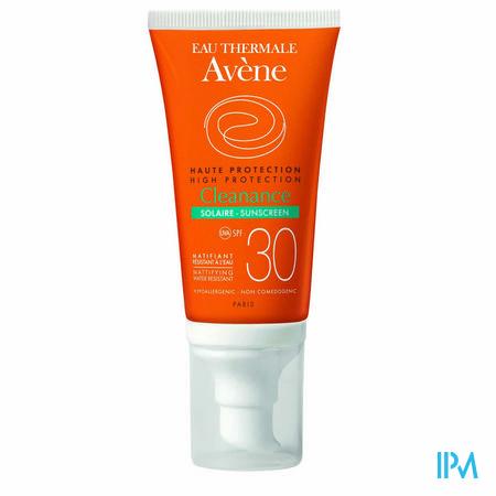 Afbeelding Avène Cleanance Waterproof Matterende Zonnebescherming met SPF 30 voor Huid met Neiging tot Acne Tube 50 ml.