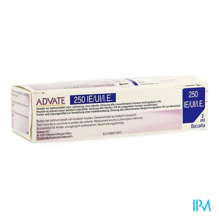 Advate 250 Ui Pulv+solv Sol Inj 2ml(125iu/ml)+kit