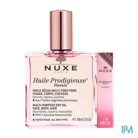 Afbeelding Nuxe Huile Prodigieuse Florale Multifunctionele Droge Olie voor Gelaat, Lichaam en Haar voor Alle Huidtypes met Frisse en Delicate Bloemengeur Sprayflacon 100 ml.