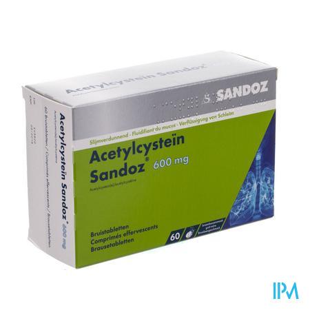 Acetylcystein Sandoz 600mg Bruistabl 60