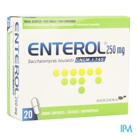 Enterol 250 mg Capsule Harde Dur 20 X 250 mg