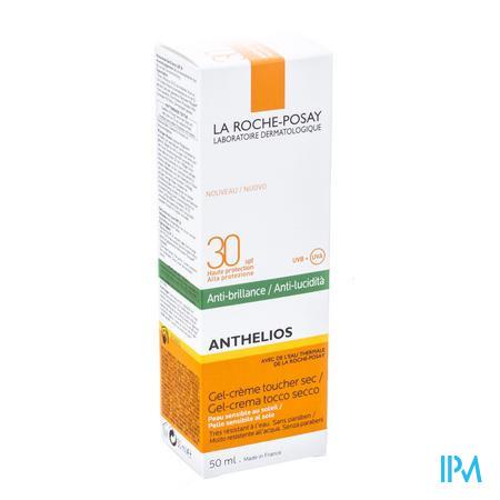 Afbeelding La Roche-Posay Anthelios Matterende Zonnegel-Crème SPF 30 met Anti-Glimeffect voor Gelaat 50 ml.