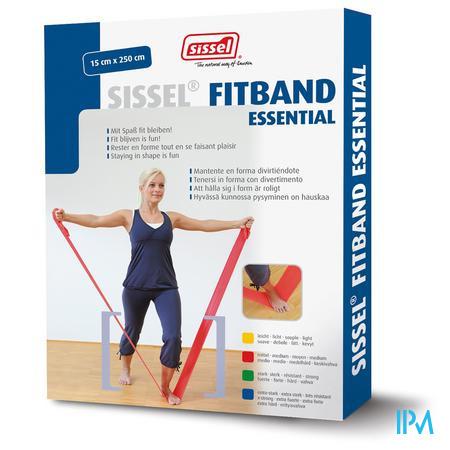 Sissel Fitband Essential 15cmx2,5m Medium Rood