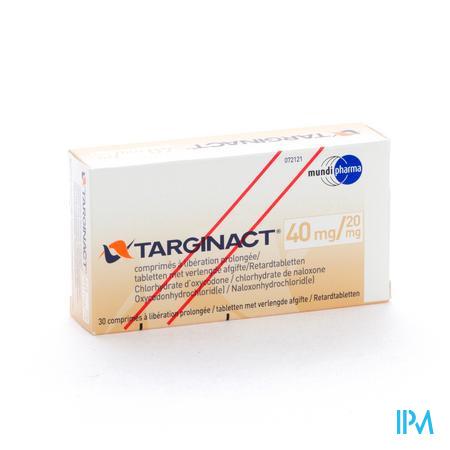 Targinact Comp Prol 40/20mg Comp 30