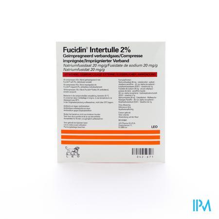 FUCIDIN INTERTULLE 10 X 10CM