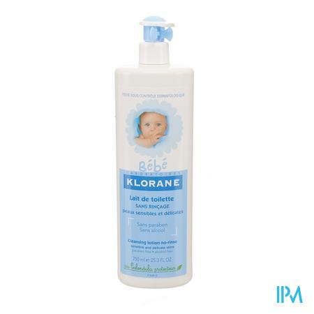 Klorane Baby Lait De Toilette Sans Rinçage 750 ml