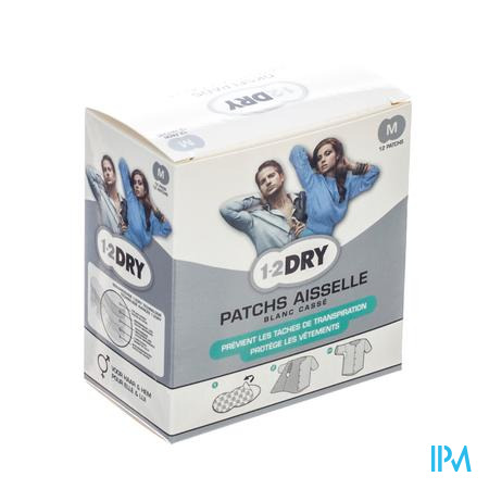 1-2DRY Patches Aiselle Medium 12 pièces