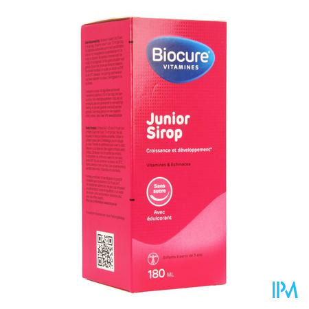 Biocure Junior Sirop Sans Sucre 180 ml