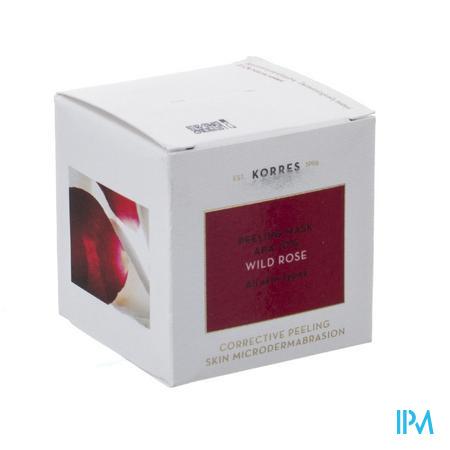 Afbeelding Korres Wild Rose Peeling Masker met 10% AHA voor Gelaat voor Alle Huidtypes 40 ml.