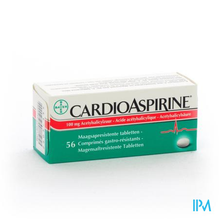 Farmawebshop - CARDIOASPIRINE MAAGSAPRESIST. TABL 56 X 100MG