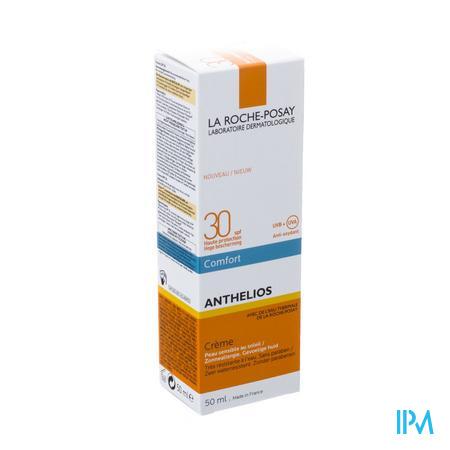 Afbeelding La Roche-Posay Anthelios Comfort Zonnecrème SPF 30 voor Gelaat 50 ml.