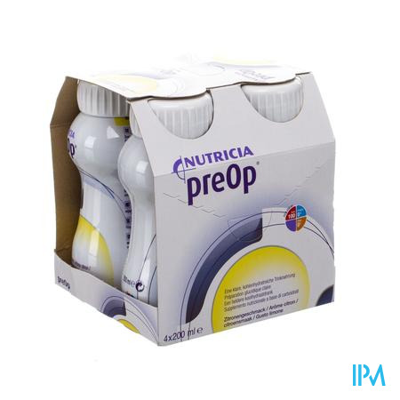 Preop Drink Citroen Fles 4x200 ml 571499