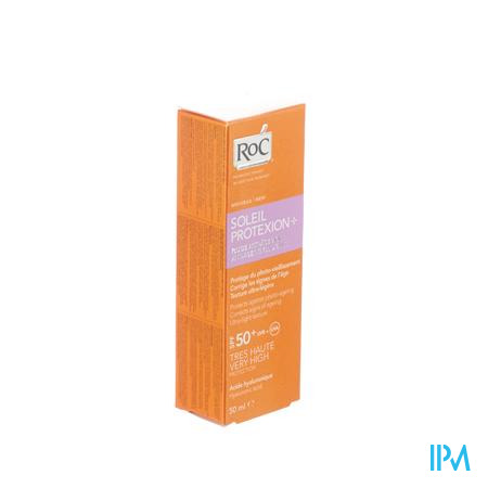 Afbeelding Roc Soleil Protexion 2 in 1 Vloeibare Anti-Ageing Zonnecrème SPF 50+ voor Gelaat Tube 50 ml + Gratis After Sun Balsem 150 ml.