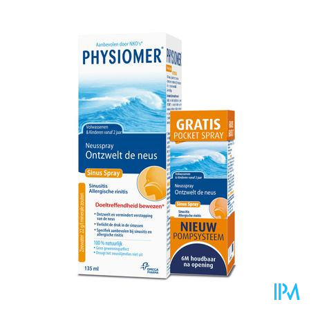 Physiomer Sinus Neusspray + Pocket Spray GRATIS 135 + 20 ml