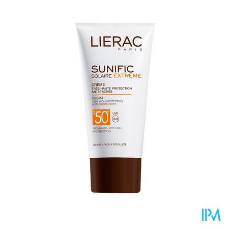 Lierac Sunific Creme Gezicht Anti-bruine Vlekken Ip50 50 ml crème
