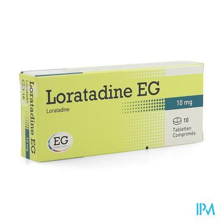 Loratadine EG 10 mg Comprimes 10 X 10 mg  -  EG