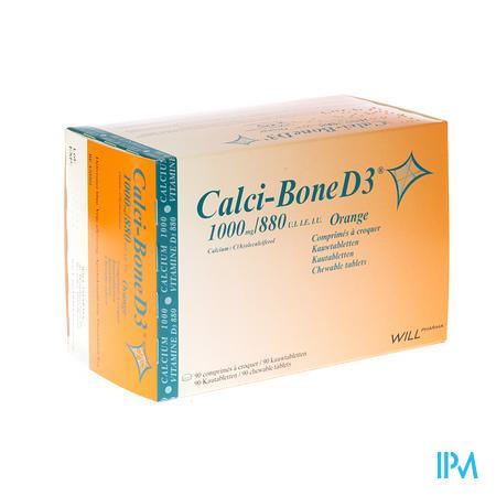 Calci Bone D3 Kauwtabletten 90