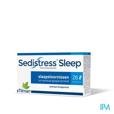 Afbeelding Sedistress Sleep tegen Slaapstoornissen en Nerveuze Gespannenheid met Valeriaanextract 28 Tabletten.